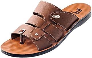 Relaxo FLITE Men's PU Slippers(PUG-23, TAN)
