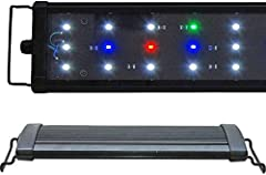 LEDs: 42x 0.50W (2000 lumen) Config: 29x 10000K, 6x Actinic 460nm, 3x Red 620nm, 4x Green 520nm Timer Ready, 2 Mode Day / Night Suitable for freshwater, plants, cichlid 1 Year Warranty*