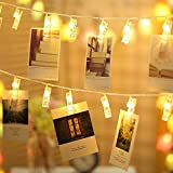 TECKEPIC LEDストリングライト 20LED写真 絵クリップ DIY 飾り 2.2M イルミネーションライト 電池駆動式 クリスマス 元旦 新年 結婚式 誕生日 パーティー