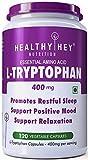HealthyHey Nutrition L-Tryptophan 400mg - 120 Veg Capsules