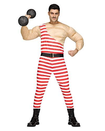 Horror-Shop Vintage Zirkus Bodybuilder Muskelkostüm für Männer One Size