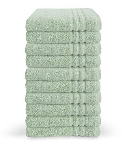 Byrklund Set di asciugamani da bagno, 10 pezzi, 50 x 100 cm, 100% cotone, 500 g/m², menta