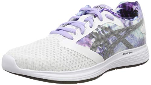 Asics Patriot 10 SP, Zapatillas de Running para Mujer, Blanco (White/Black 100), 39.5 EU