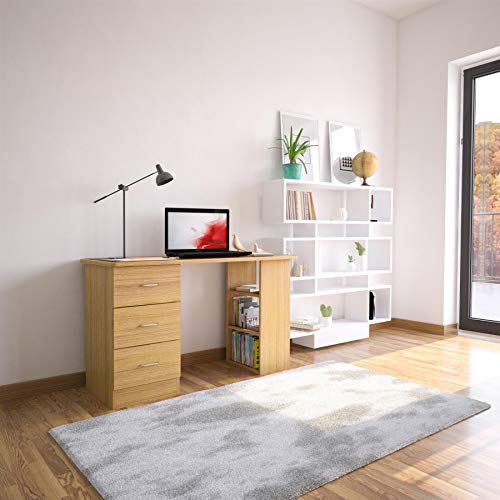 Oak Desk with Drawers & Storage for Home Office - Piranha Furniture Guppy