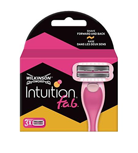 Wilkinson Sword Intuition fab Rasierklingen für Damen Rasierer, 3 St
