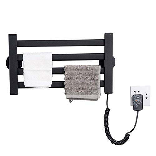 STZYY Calefacción Toalla Radiador Cuatro Capas Toallero Barra Baño Montado en la Pared 45W Calentador eléctrico Calefactor Radiador Toallero Soporte Negro