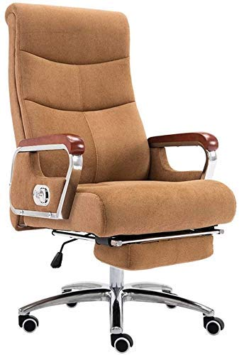 WSDSX Office Chairs Computer Chair Ergonomic Office Desk Chair with Footrest High Back Reclining Executive Chair Height Adjustable Gaming Chair Cotton Fabric Computer Desk Chair for Offi
