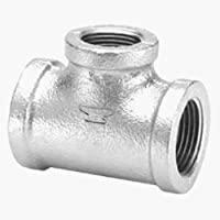 Anvil 8700120903, Malleable Iron Pipe Fitting, Tee, 1/2 NPT Female, Galvanized Finish by Anvil International
