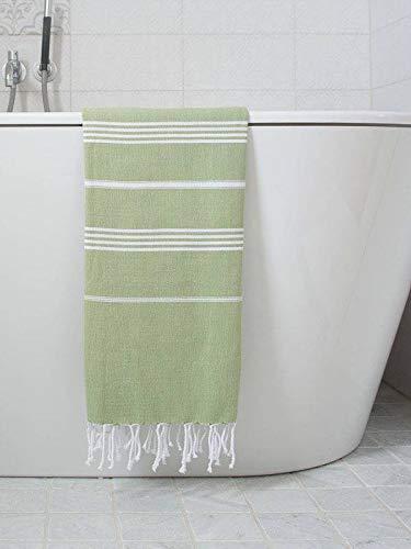 Hamamdoek Mosgroen - Strandlaken - Saunadoek - Saunalaken - Omslagdoek - Stranddoek - Reishanddoek - Plaid - Zwem Handdoek - Sneldrogende Handdoeken - medium 170x100cm
