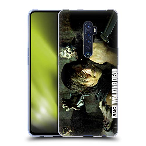 Head Case Designs Officially Licensed AMC The Walking Dead Daryl Knife Walkers and Characters Soft Gel Case Compatible with Oppo Reno 2