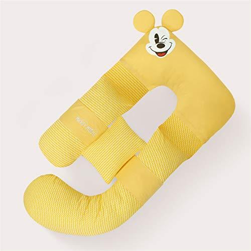 yuanyuanliu Lado De Cintura Almohada para Dormir, Lodge Side En Forma De U Almohada, Almohada, Patiendo Almohada Almohada (Color : Yellow)