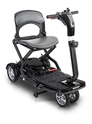 Pride Mobility Quest Folding Mobility Scooter – 4 Wheel Electric Scooters for Adult (Black)