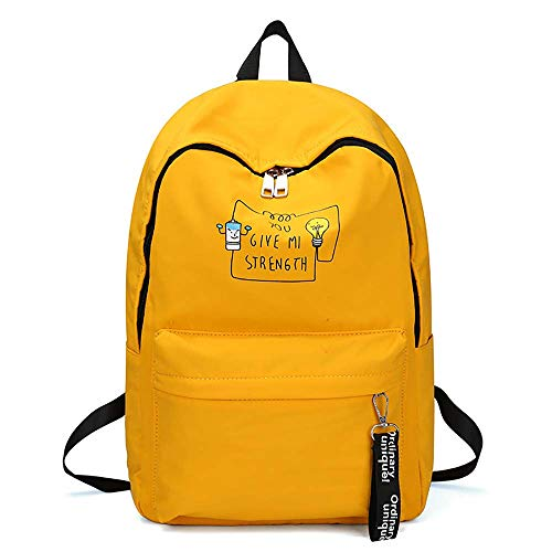 DHTOMC School Bookbag for girls, Women's Backpack school backpack University Campus Rucksack student bags Laptop Backpack for high school Casual Sports Backpack Xping (Color : Yellow)