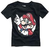 Super Mario It's A Me Männer T-Shirt schwarz 110/116
