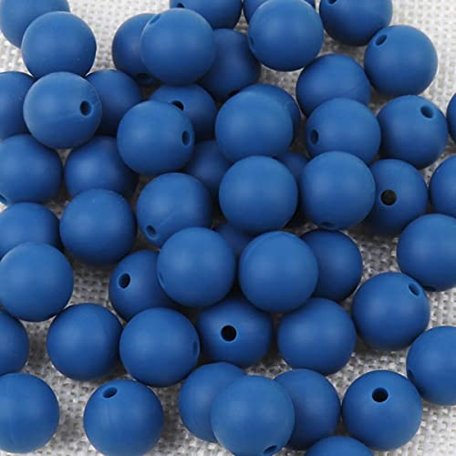 Cuentas de silicona 10 piezas de silicona de grado alimenticio 12 / 15MM cuenta de dentición de silicona para lactancia en collar de mordedores para bebé DIY-51,12mm