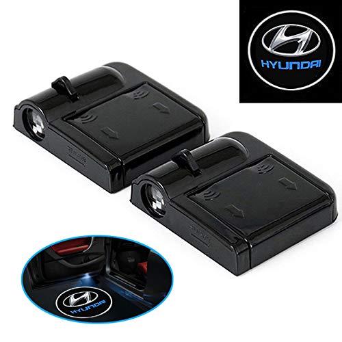 A74 2 Stück Wireless Auto Tür Licht LED Car Willkommen Projector Logo Hyundai