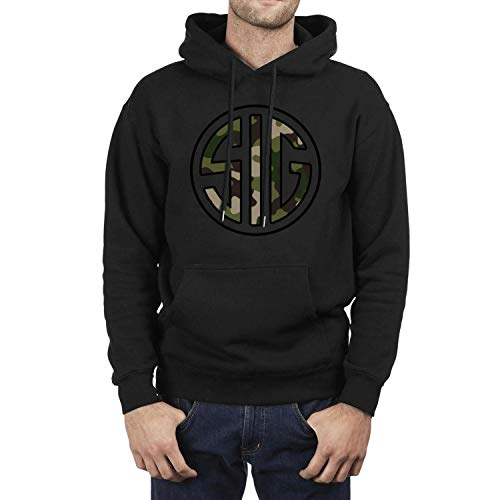 ZTUO SIG Sauer Black Camouflage Shopping on Line Men's Hoodie Popular Plain Hoody Sweatshirt