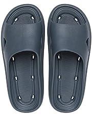 Antislip schoenen met dikke zolen Platte slip op doucheslippers, waterdichte EVA sandalen schoenen voor zomer douche badkamer strand zwembad grijs EU39-40
