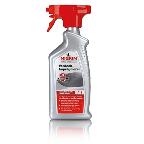 NIGRIN 74183 Cabrio-Verdeck Imprägnierer, 500 ml Sprühflasche, wasser- und schmutzabweisend, bis zu 6 Monate Abperl-Effekt