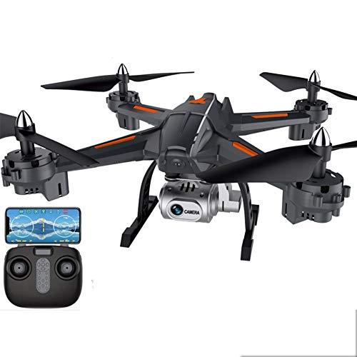 LCSA WiFi-Drohne mit 1080P HD-Kamera, Sprachsteuerung, Weitwinkel-Live-Video-RC-Quadcopter mit Höhenlage, mit Schwerkraftsenso, Start/Landung mit einem Schlüssel, Black