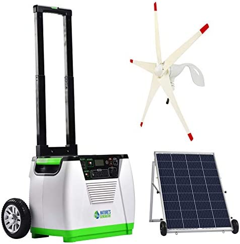Nature s Generator Gold WE System 1800W Solar Wind Powered Pure Sine Wave Off Grid Generator product image