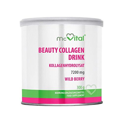 Beauty Collagen Drink - Kollagenhydrolysat - Hautfeuchtigkeit - gegen Linien und Falten - WILD BERRY - 300 g