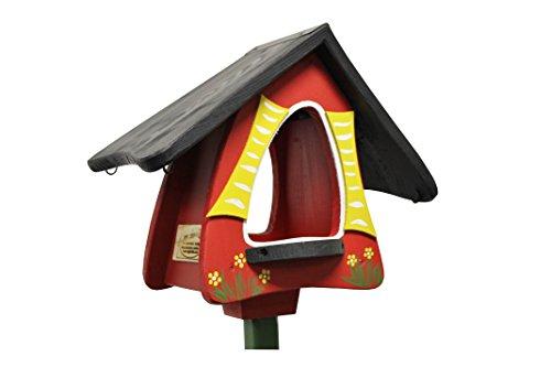 Die Vogelvilla, Futterhobbit, Futterhaus, Vogelhaus, rot