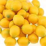 gresorth 20 pcs mini fake yellow lemon artificial fruit home party decoration
