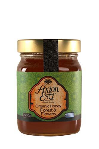 Miele grezzo bio proveniente dalla Grecia | Miele biologico di fiori selvatici e della foresta greca di Axion Esti (450 gr)