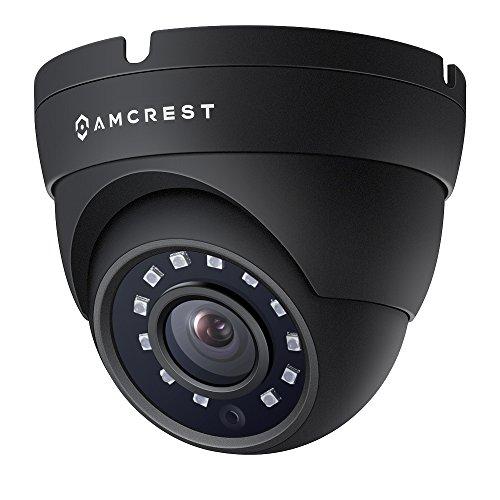Amcrest 1080P 1920 TVL Dome Wetterfest IP66-Kamera mit 20 LEDs für Nachtsicht, Fernbereich bis 984ft, 1 Jahr Garantie, und mehr (schwarz) - Stromversorgung und Koaxial-Videokabel sind nicht inbegriffen