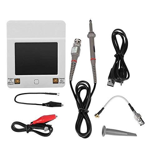 Yongenee Osciloscopio digital de almacenamiento, de bolsillo DSO112A 2 MHz 5Msps de múltiples funciones del USB Multímetro pantalla táctil TFT X1N7