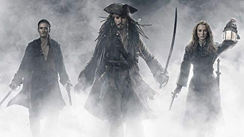 2-HOB59F Pirates of The Caribbean 107cm x 60cm,43inch x 24inch Silk Print Poster