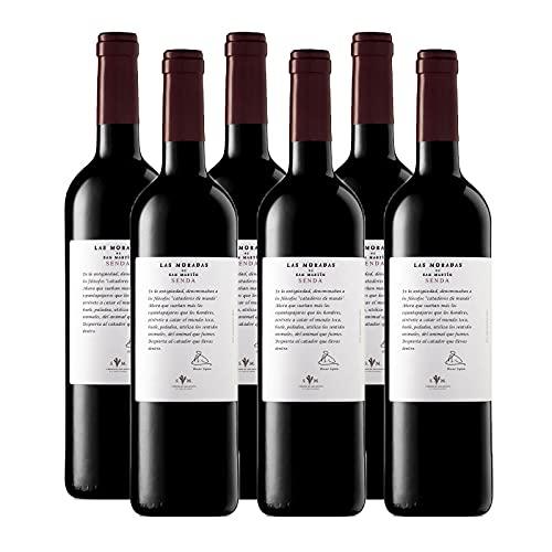 Vino Tinto Senda de 75 cl - D.O. Madrid - Bodegas Las Moradas de San Martin (Pack de 6 botellas)