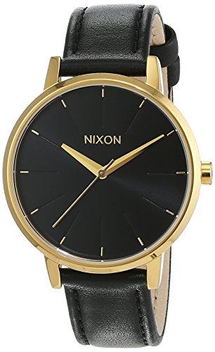 Nixon Damen-Armbanduhr Kensington Leather Gold/Black Analog Quarz Leder A108513-00