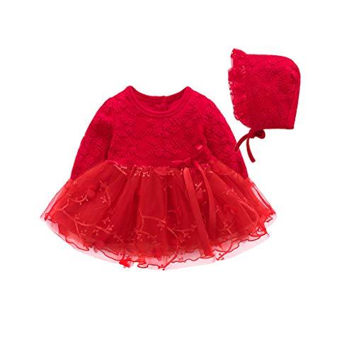 Walabe Robe Fille Mode Vetement Bebe Fille Naissance Hiver, Robe BéBé Fille 0-2 Ans Dentelle Tutu Princesse Robe Robe VêTements Tenues