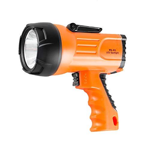 SDlamp 10W 1000 Lúmenes LED Recargable Proyector LED, Luz De Búsqueda Portátil para Al Aire Libre, con 3 Modelos De Luz, Luz De Emergencia Linterna LED LED