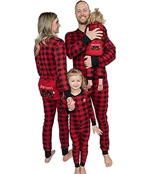 Lazy One Flapjacks Matching Pajamas for The Dog Baby Kids Teens and Adults  Plaid Bear Cheeks 12 MO