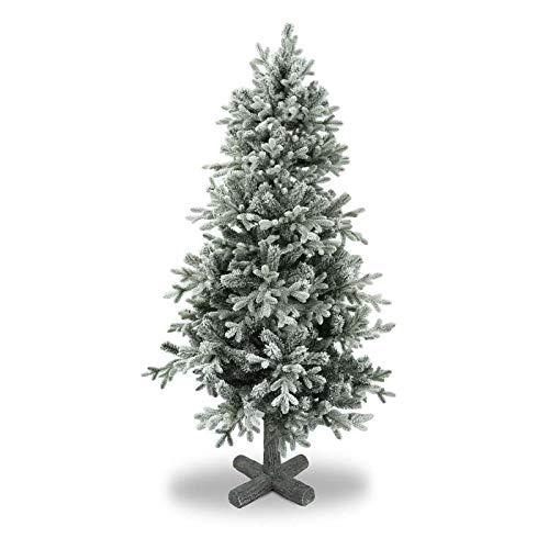 Stilè Albero di Natale Artificiale H.183 CM D.95 CM Verde INNEVATO FOLTO di ALTISSIMA QUALITA', Effetto Realistico,con Base Realizzata Effetto Tronco 645 Tips in PE+PVC Base Metallica