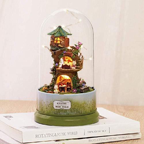 DIY Mini House Kit de casa de muñecas Herramientas Casa de muñecas en miniatura con...