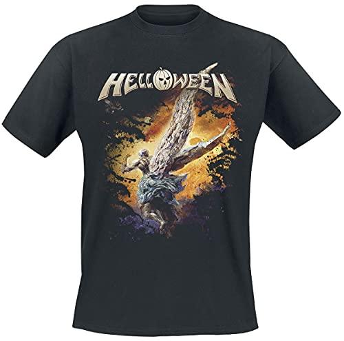 Helloween Angels Hombre Camiseta Negro 4XL, 100% algodón, Regular