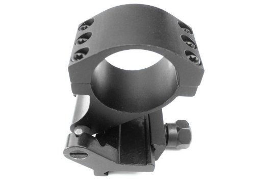 Ade Advanced Optics Quick Flip to Side 90-Degree 30mm/1-Inch Tactical QD Pivot FTS Mount with 1-Inch Inserts for Aimpoint/Eotech/Magnifier/Scope 3x 4x 5x with Standard Screw Base