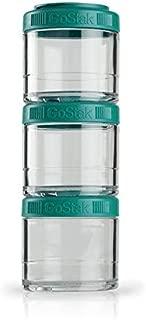 BlenderBottle C02510 GO STAK GoStak Twist n' Lock Storage Jars, 100CC, Teal
