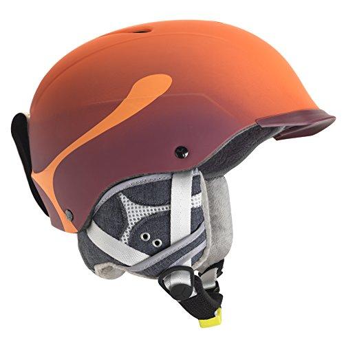 Cébé Skihelm Contest Visor Pro, Orange, 62-64 cm