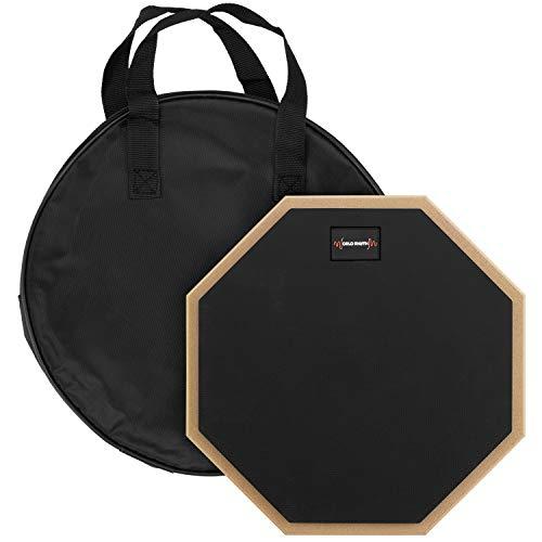 World Rhythm 25,4 cm Schlagzeug-Übungspad – 25,4 cm einseitiges geräuschloses Schlagzeug-Pad für Anfänger mit Tragetasche WR-606