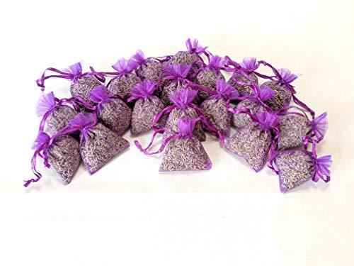 20 Provence Lavendelbeutel, Duft Aromen, Lufterfrischer, beruhigender Schlaf, Entspannung, Mottenschutz, 5 x 7 cm