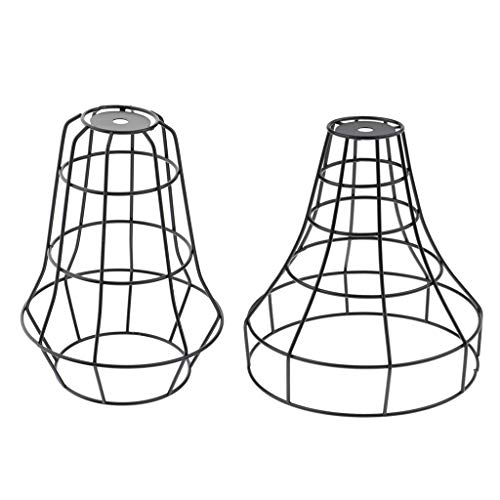 non-brand Sharplace 2X Cage De Fil De Fer Suspendu Abat-Jour Suspension Abat-Jour Lustre - #1