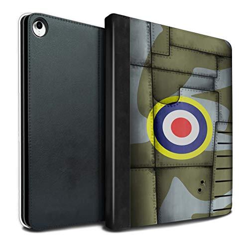 eSwish PU Boek/Over/Case/IP-TSB/Vliegtuig Fighter Wing Collectie Apple iPad Pro 12.9 2018/3rd Gen Britain/Green