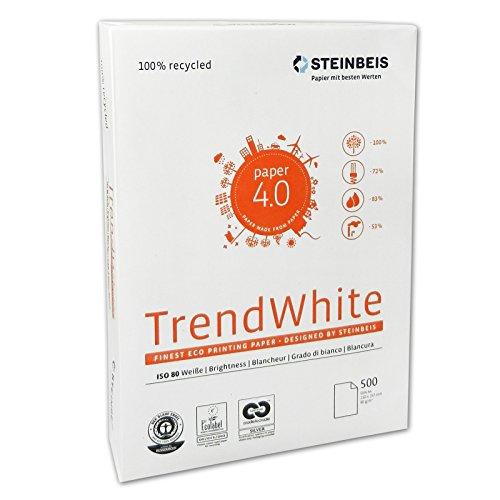 5X Classic White/Trend White - A4, 80 g/qm, weiÿ, 500 Blatt Steinbeis Vision 521708010001 weiÿ 500 Blatt 80 g/qm