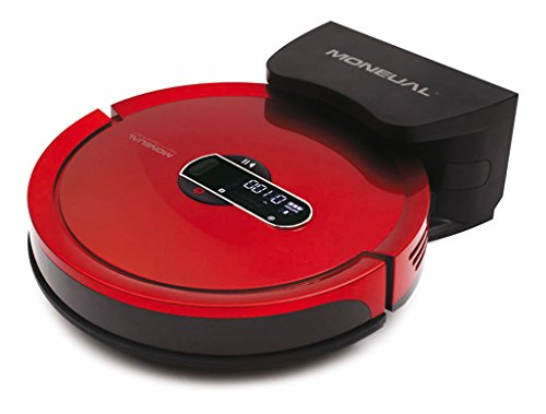 Moneual MR7700 Robot aspirador, 20 W, 60 Decibelios, Rojo vino ...