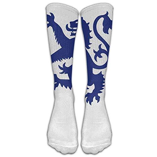 GHJL Lion Rampant Schotland Schotse knie hoge lange sokken Athletic Tube kousen voor hardlopen